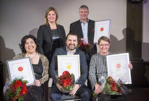 Fyra finalister och Lotta Petterson, regionchef Svenskt Näringsliv.