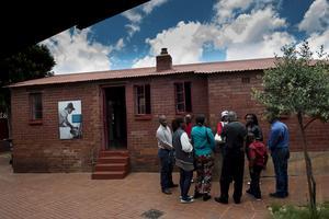 Mandela begav sig till huset i Soweto när han frigavs. Nu är det ett museum.