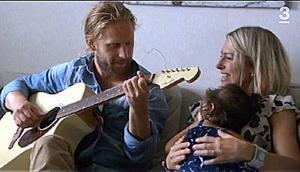 Rickard Mellberg plockade fram sin gitarr för att charma trebarnsmamman Susanne Bostrand från Östersund.