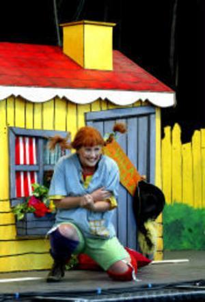 My Blomqvist som Pippi Långstrump underhöll med en musikal.