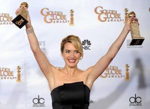 Kate Winslet vann två priser på Golden Globe-galan.Foto: Mark J Terrill/AP/Scanpix