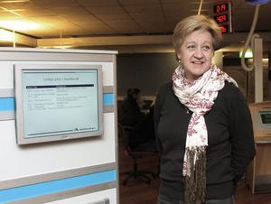 Charlotte Palmborg, chef för arbetsförmedlingen i Hudiksvall.