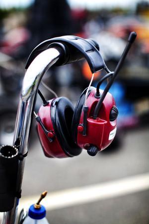 Hörselkåpor var ett vanligt förekommande föremål under helgen.