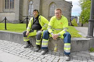 På väg. Karlstadpojkarna Kenneth Andersson och Kim Jordskogen ska jobba med nya Konserthuset.