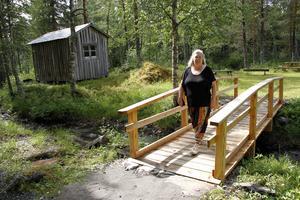 – Tillgänglighet är viktig – därför har vi bland annat byggt en ny bro, säger Pia Enocson, ordförade i föreningen Loosgrufvan.
