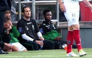 Dulee Johnson får sitta kvar på bänken även mot Ljungskile. Foto: Mikael Hellsten