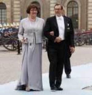 Eva och Olle Westling vid bröllopet i somras.