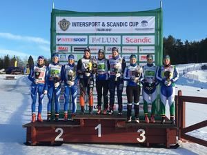 I Dalarnas segrande damlag åkte Moa Olsson, Johanna Andersson och Amelia Furunäs. Gästrikland knep andraplatsen före Jämtland/Härjedalen.