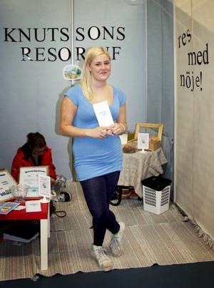 Ung och driftig. Sandra Knutsson kom tvåa i länet när bästa tjänst utsågs på Våga vara egen-mässan på Fyrishov i slutet av förra veckan.