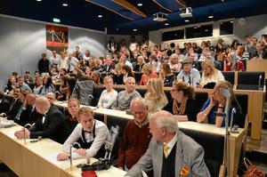Fullsatt. Över 100 besökare kom för att se och uppleva svenska mästerskapet i sommellerie.