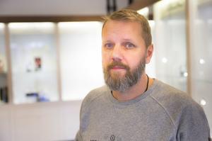 Fredrik Norr Berg, butiksägare Stjärnurmakarna.