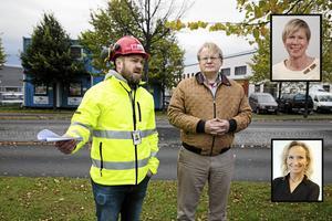 Kim Söderström, ordförande för  Byggnads  GävleDala och Peter Hultqvist, försvarsminister, Socialdemokraterna tog för några veckor sedan i hand på att krav på kollektivavtal ska gälla vid offentlig upphandling.