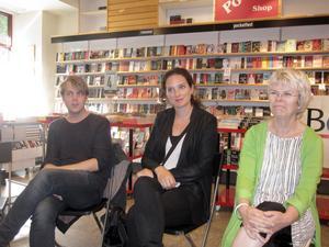 Deckarförfattarna Christoffer Carlsson, Sofie Sarenbrand och Annika Sjögren besöker Bokias höstbokmässa.