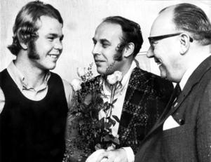 1971-års ST-pokalvinnare, Håkan Pettersson, tillsammans med juryledamöterna Tony Pettersson och Johan Östman.
