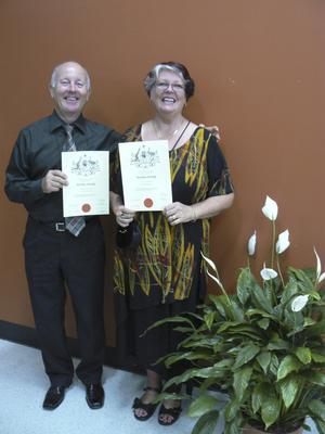 Medborgare. Stig och Inga-Lill har både svenskt och australiensiskt medborgarskap. De trivs bra i sitt nya hemland. Foto: Privat