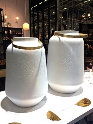 5. Ljuslyktan från Räder i både matt och glaserad keramik, cirka 499 kronor, fanns i Happynests monter.