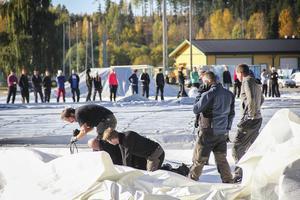 Det var ett stort antal frivilliga som hjälpte till under dagen.