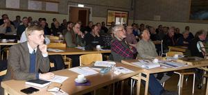 Intresset för fiske är stort i Härjedalen och det var fullsatt i Långå Nytta och nöje vid årets fisketing.
