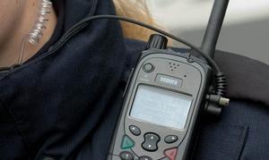 En handenhet i radiosystemet Rakel.
