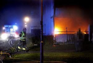 Lägenhetsbrand på Kornstigen på Tjärna Ängar i Borlänge.