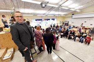 Skolchef Lars Lisspers, som både startat och fått lägga ner  samma skola, exakt ett år efter att den öppnades.