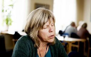 """""""Det är viktigt att diskutera den här typen av utvecklingsfrågor"""", säger Eva  Karin Brogren från Grangärdebygdens intresseförening. Foto: Carl Lindblad"""