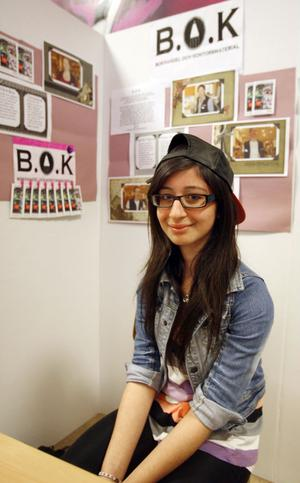 7. Lazia Abdoula gjorde sin praktik på B.O.K, en rolig praktikplats, tycker hon.