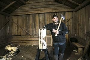 Första kontakten med timbersports kom när Calle började på naturbruksgymnasiet i Älvdalen hösten 2008.