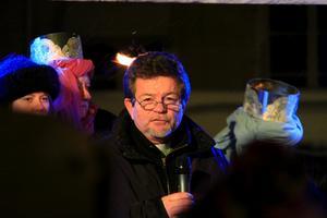 Ronald Henriksson, biträdande direktor Västerås stadsmission talade om julens budskap.