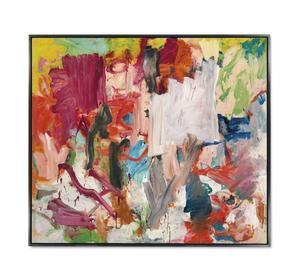Willem de Kooning var 73 år när han gjorde målningen