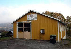 Den lilla brandstationen i Mellberg för Ljustorps frivilliga brandvärn är en möjlig knutpunkt för bredbandsfibern till Ljustorp.