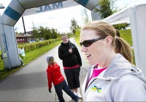 Cattis Olsson som var tävlingsansvarig är nöjd med årets svenska motionsdag.