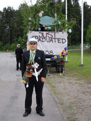 Martin Furéh. Ny pilot från Trafikflygarprogrammet på Hässlögymnasiet!Foto: Victoria Furéh