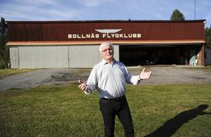 Hans Dunder, ordförande för flygklubben sedan 1979.