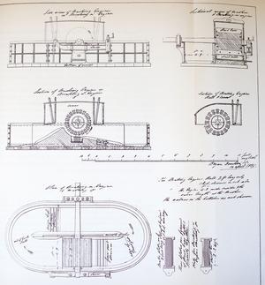 Ritningen till den  första pappersmaskinen