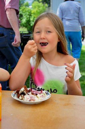 Vanja Brändfors är 7 år och kommer från Östersund. Hon gillade mest chokladtårtan.