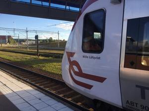 Tågen från Ludvika (bilden) kunde åter rulla hela vägen till Västerås från onsdagskvällen.