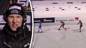Oskar Svensson kom trea efter ett taktiskt lopp.