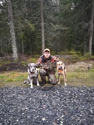 För Kalle Kastmans del har det än så länge inte blivit någon utdelning under årets jakt. Däremot lyckades en passkytt fälla en älg för hans hund.