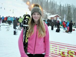 Elsa Håkansson-Fermbäck, Vemdalens IF, fixade en hemmaseger när D16-klassen körde slalom på fredagen.