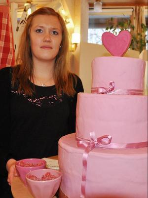 Andrea Skott Dahlgren från Funäsdalen visade upp sitt företag Tårtdesign.