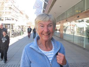 Inga-Britt Renbeg, 75, pensionär, Grödinge:– Ja, jag använder bara kontanter när jag använder parkeringsautomater, så det var då.