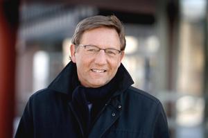 Glad i dag: universitetets rektor Jens Schollin.