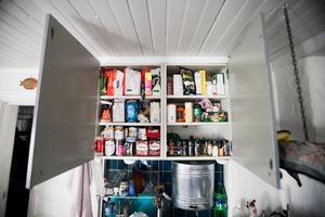 Det har krävts mycket planering för att packa med sig rätt mängd och rätt sorts mat till ö-äventyret.