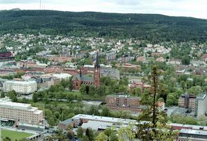 Någonstans här, eller utanför bilden, döljer sig Sundsvalls fulaste hus. Föreslå din kandidat till susanne.holmlund@mittmedia.se
