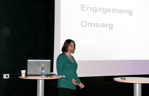 Jenny Klefbom, psykolog, föreläste om anknytning och positivt samspel.