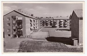 Kvarteret Hjorten och den inhägnade skolgården till Lillnorra.
