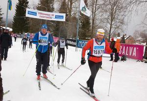 Efter 47 kilometer kom skidåkarna till Evertsberg.