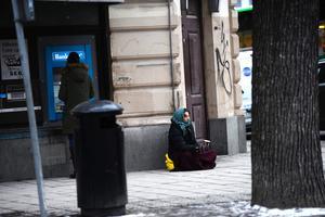 En tiggare i Stockholm.