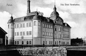 Badhuset på ett reklamvykort från 1912.